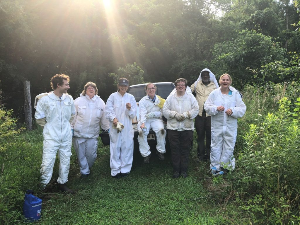 Group of beekeeper mentors and mentees