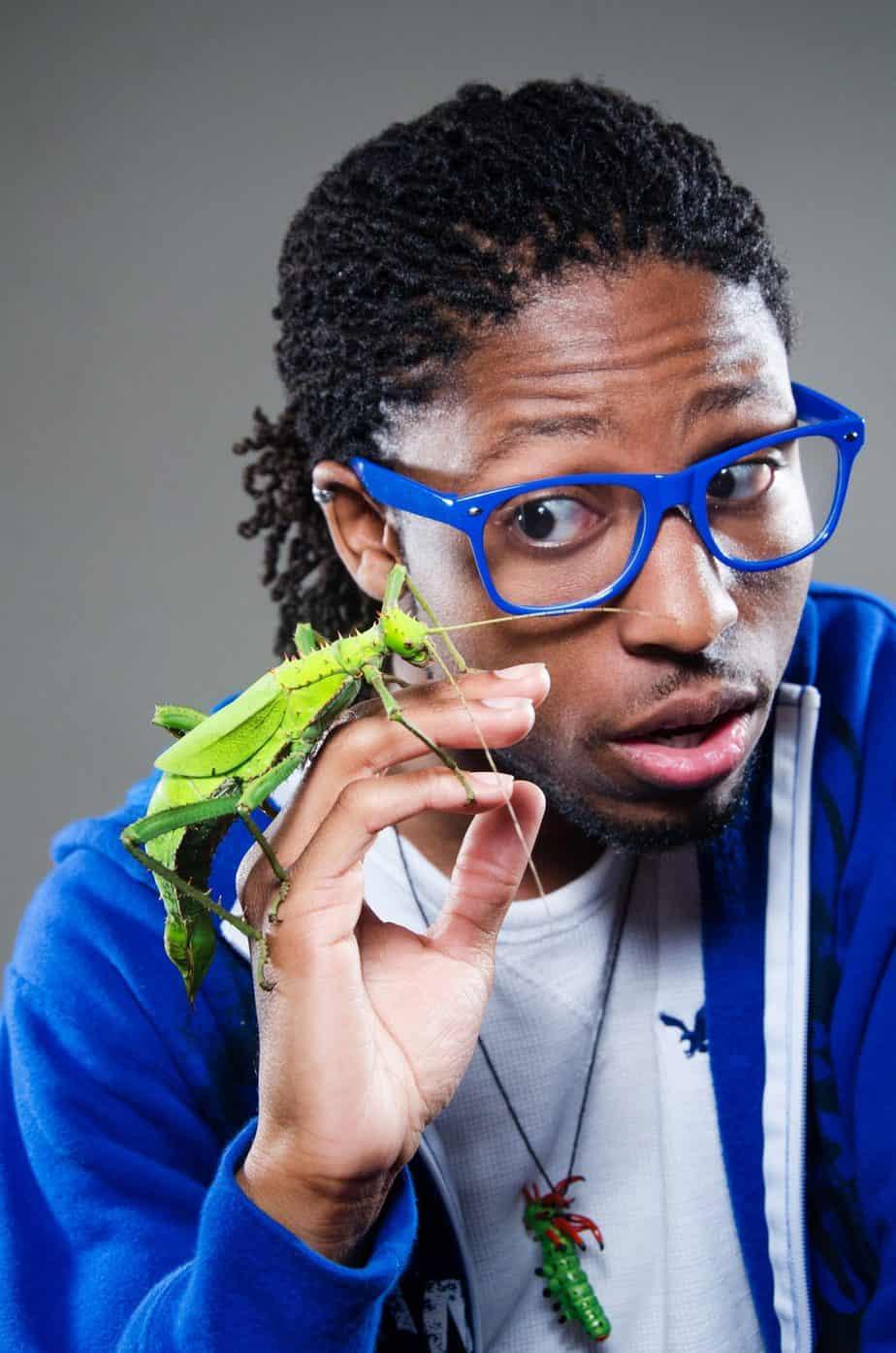 Dr. Sammy with bug